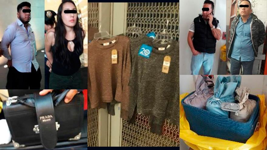 En tres acciones SSP-CDMX detuvo a cuatro personas por sustracción de mercancía en la tienda El Palacio de Hierro